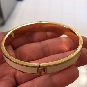 henri bendel Jewelry - Henri Bendel white and gold bangle